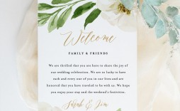 000 Surprising Wedding Welcome Letter Template Download High Definition