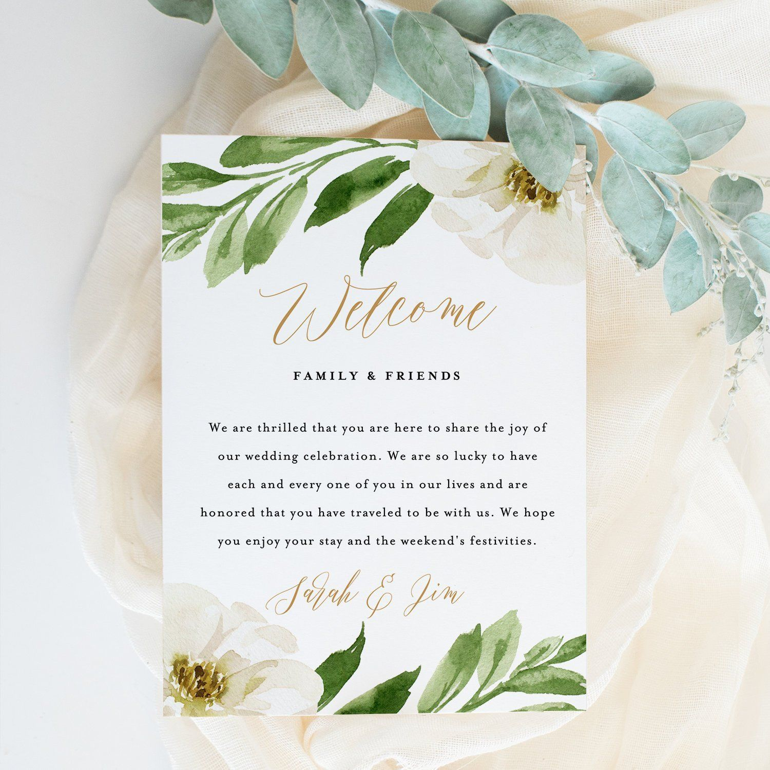 000 Surprising Wedding Welcome Letter Template Download High Definition Full