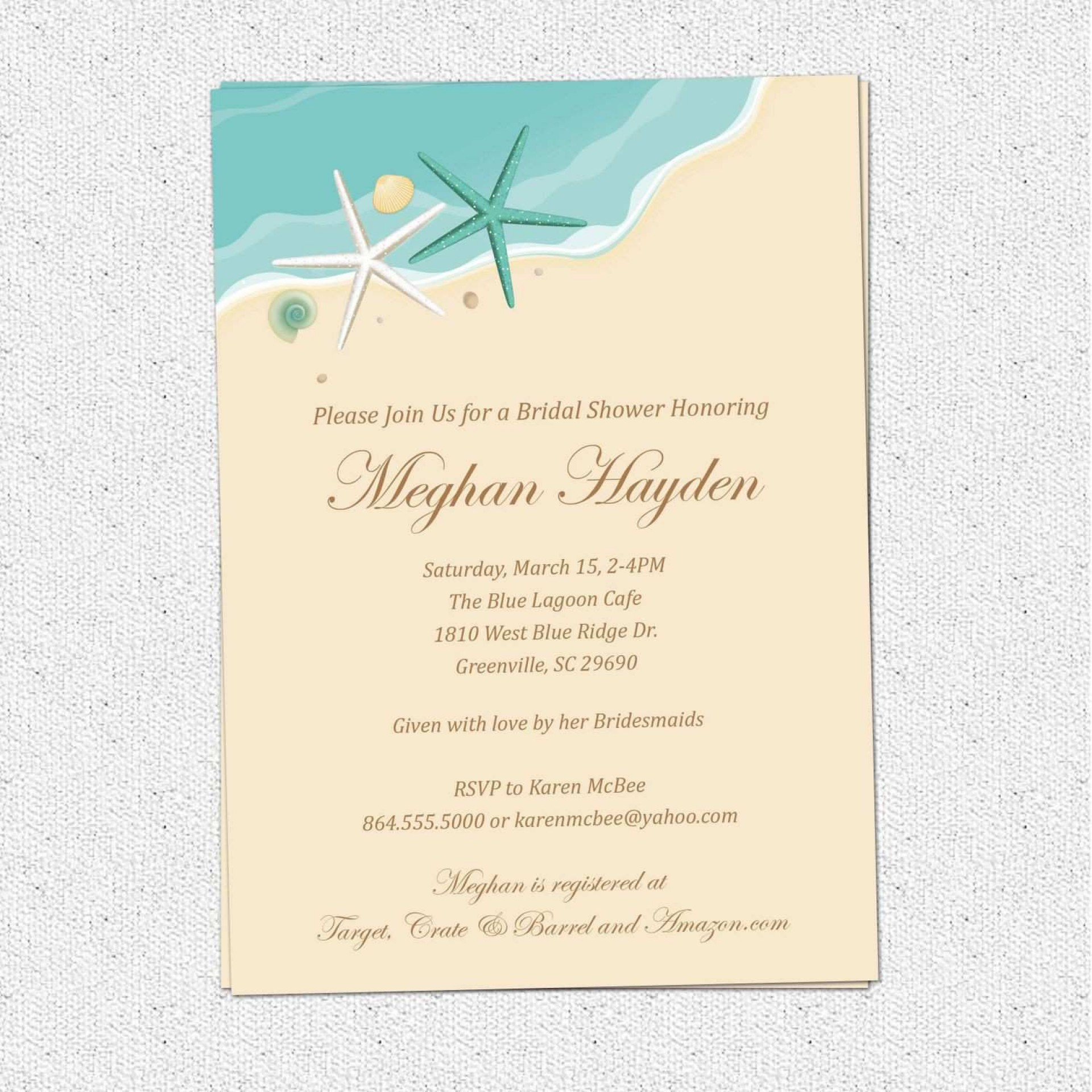 000 Top Beach Wedding Invitation Template Picture  Templates Free Download For Word1920