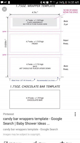 000 Top Chocolate Bar Wrapper Template Free Example  Printable Hershey Candy Valentine320