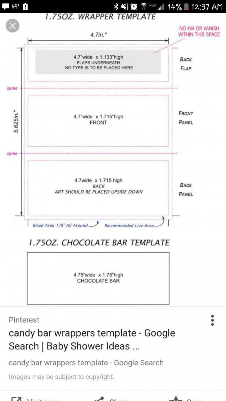 000 Top Chocolate Bar Wrapper Template Free Example  Printable Hershey Candy Valentine728