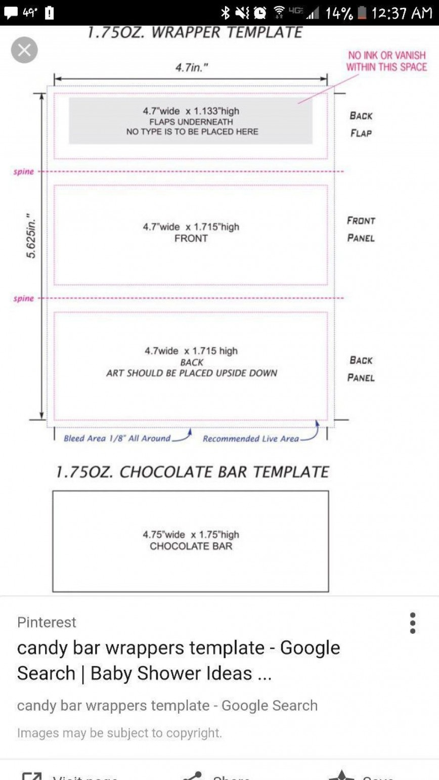 000 Top Chocolate Bar Wrapper Template Free Example  Printable Hershey Candy Valentine868