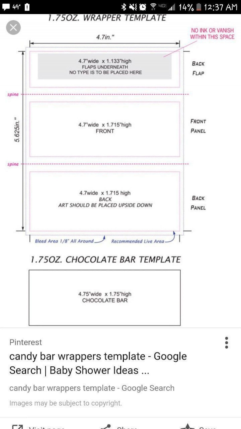 000 Top Chocolate Bar Wrapper Template Free Example  Printable Hershey Candy Valentine960