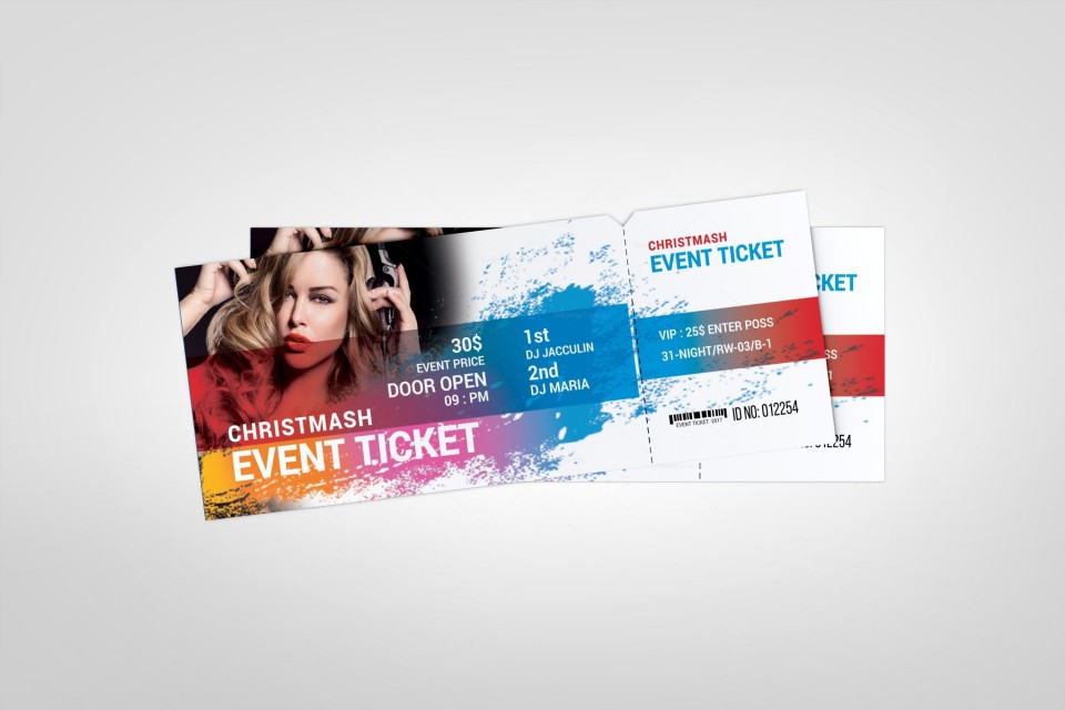 000 Top Concert Ticket Template Google Doc Example 960
