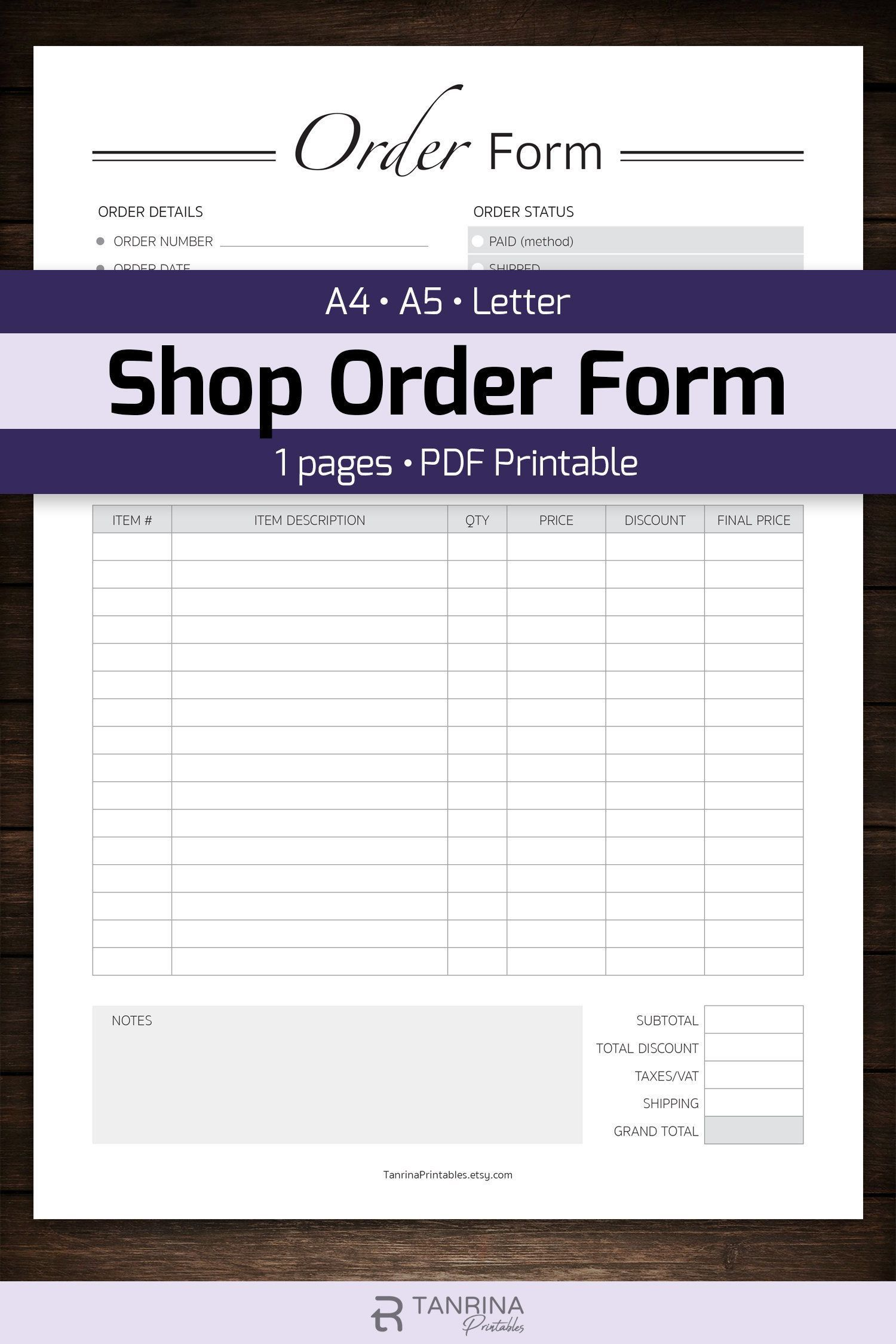 000 Top Custom Order Form Template Highest Quality  Cake Clothing WorkFull