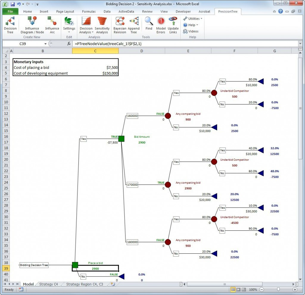 000 Top Decision Tree Template Excel 2016 Sample Large