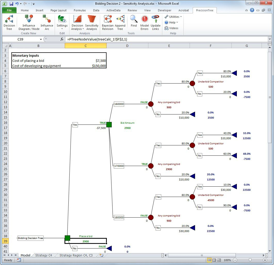 000 Top Decision Tree Template Excel 2016 Sample Full