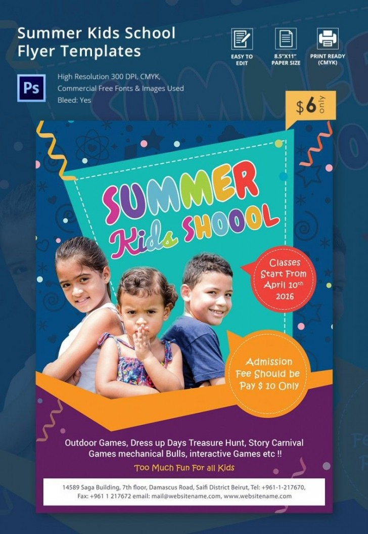 000 Top Free Back To School Flyer Template Word Design 728