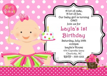000 Top Free Online 1st Birthday Invitation Card Maker For Twin High Resolution 360