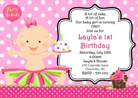 000 Top Free Online 1st Birthday Invitation Card Maker For Twin High Resolution 480