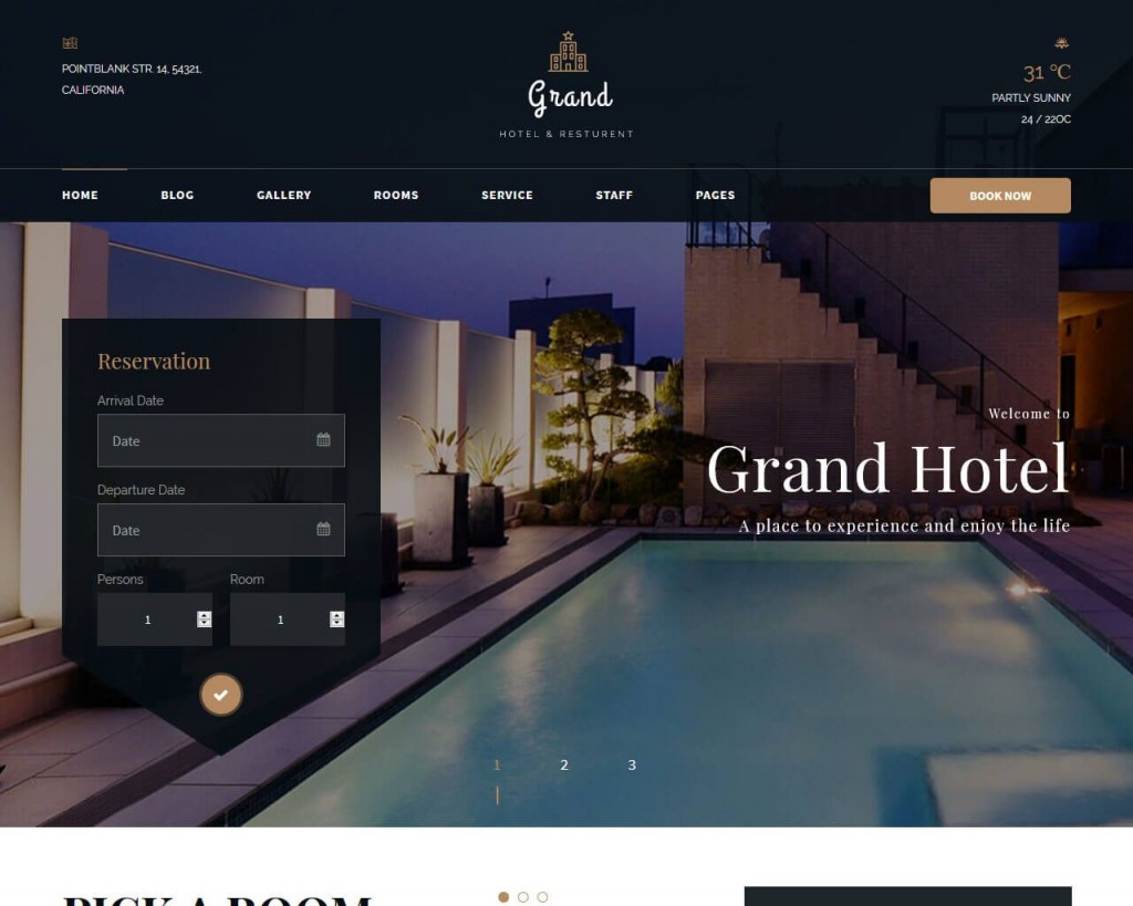 000 Top Hotel Website Template Html Free Download Highest Quality  With Cs Responsive Jquery And RestaurantLarge