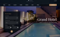 000 Top Hotel Website Template Html Free Download Highest Quality  With Cs Responsive Jquery And Restaurant