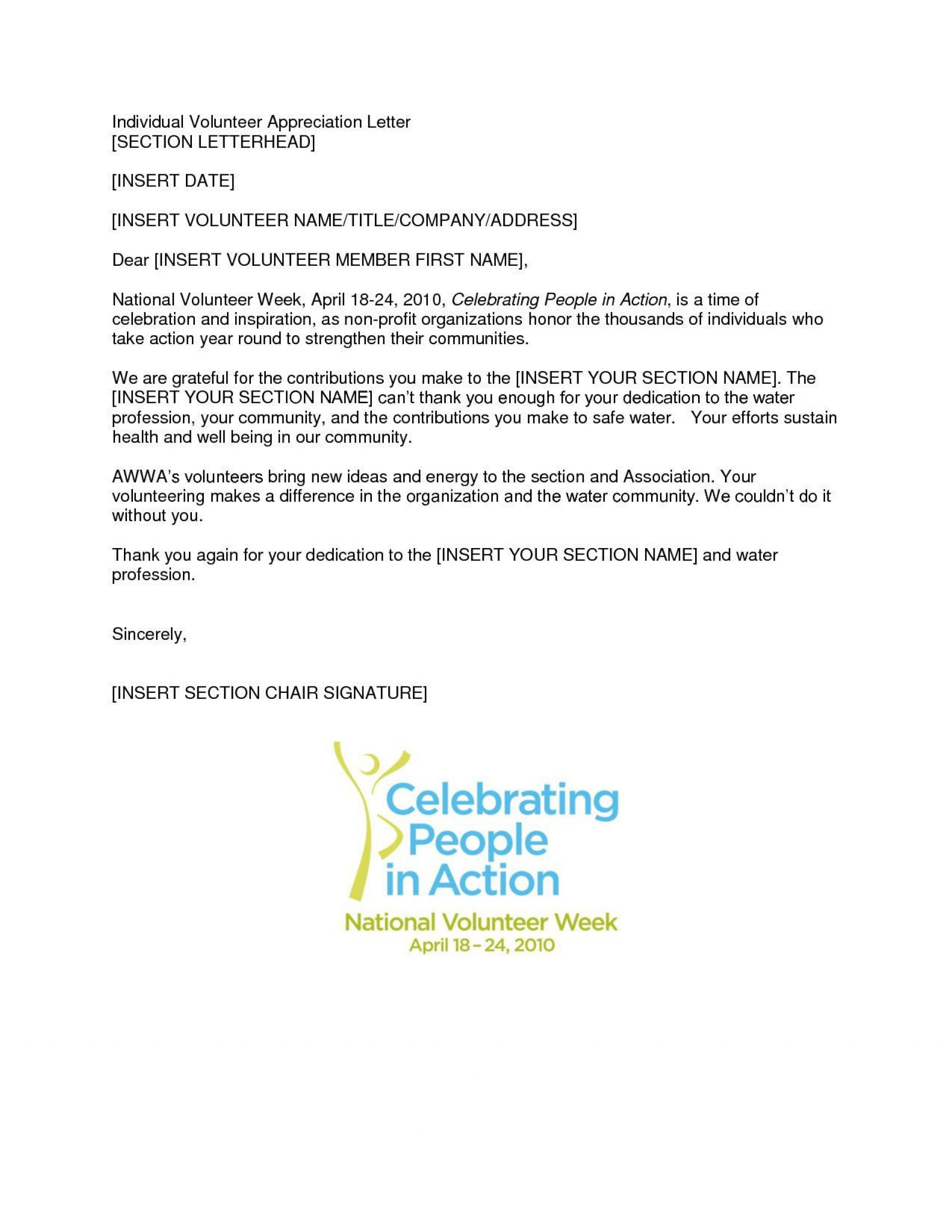Volunteer Letter Of Appreciation Template from www.addictionary.org