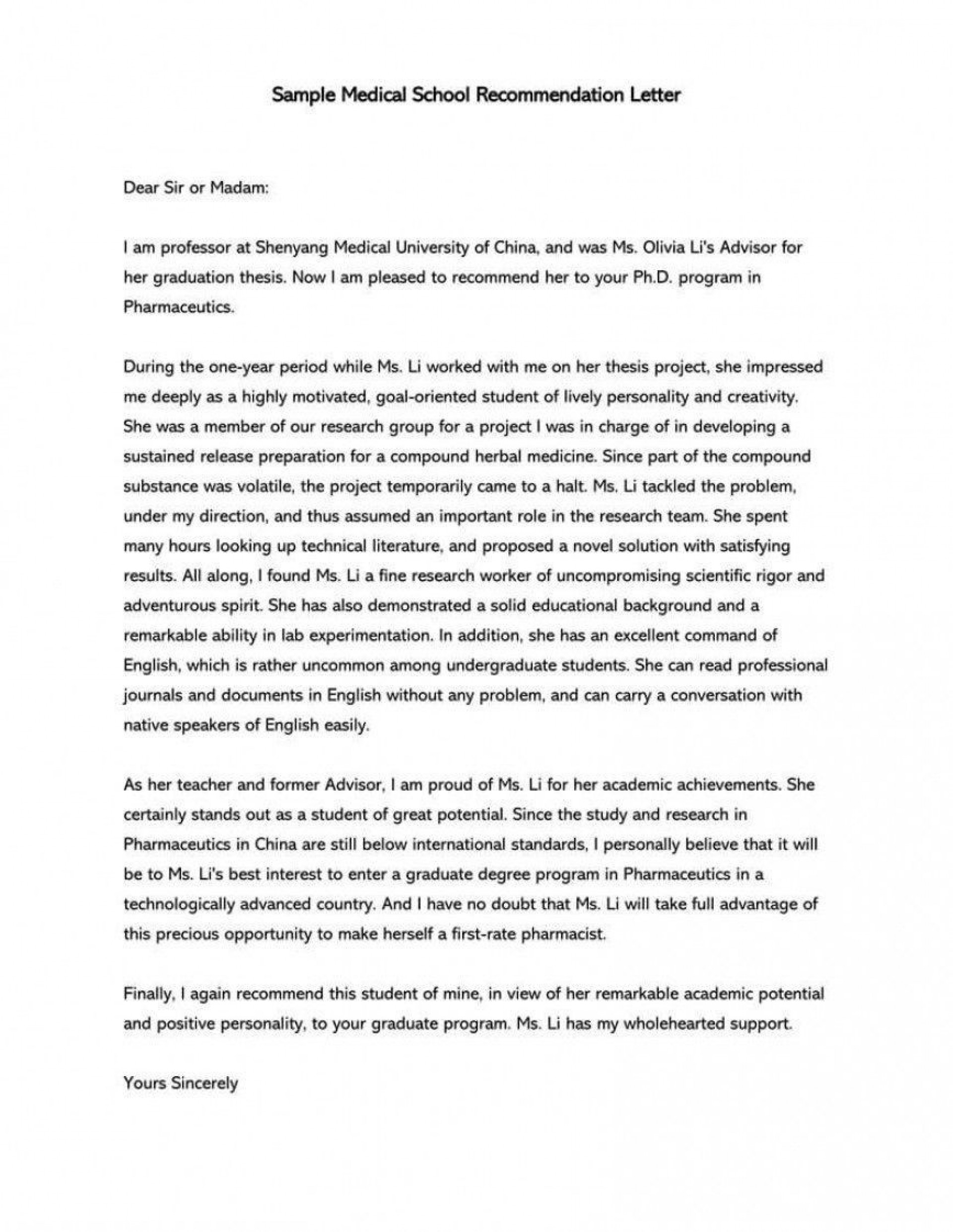000 Top Letter Of Recommendation Template Word Inspiration  General Uk1920