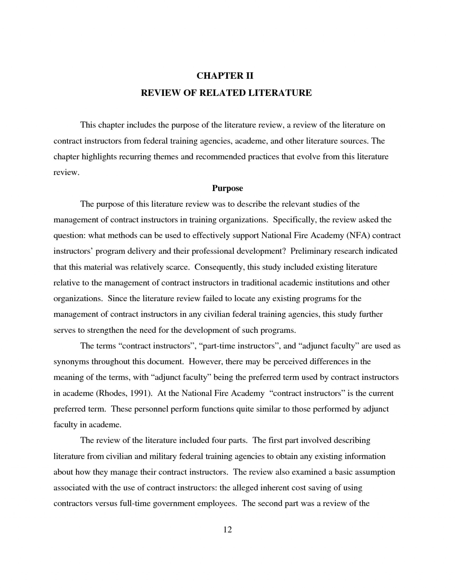 000 Top Literature Review Outline Template Apa High Def  Style ExampleFull