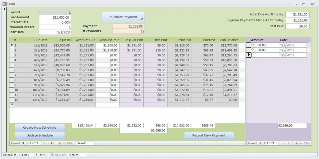 000 Top Loan Amortization Template Excel Inspiration  Schedule Free DownloadLarge