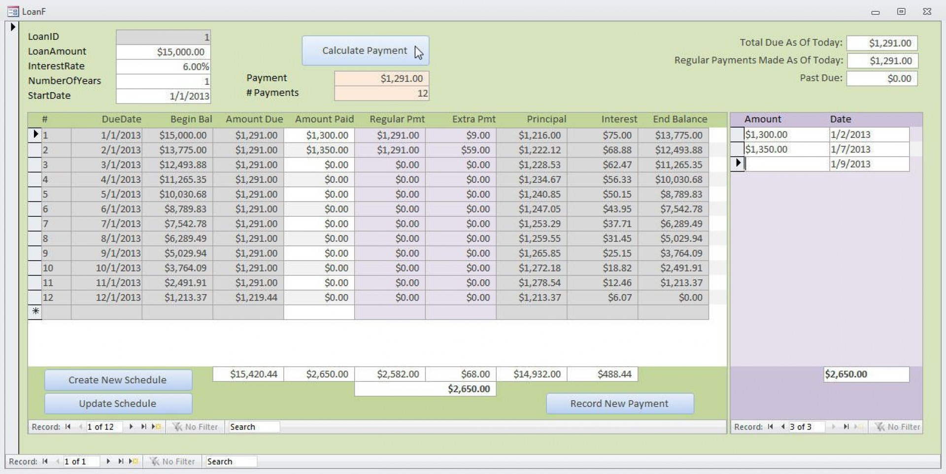 000 Top Loan Amortization Template Excel Inspiration  Schedule Free Download1920