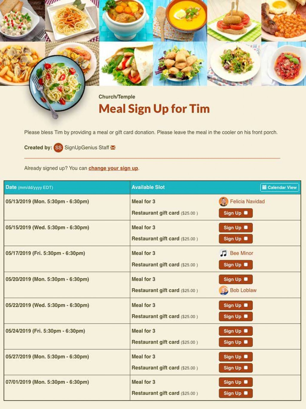 000 Top Meal Sign Up Sheet Template Example  Christma Potluck Free Printable BlankLarge
