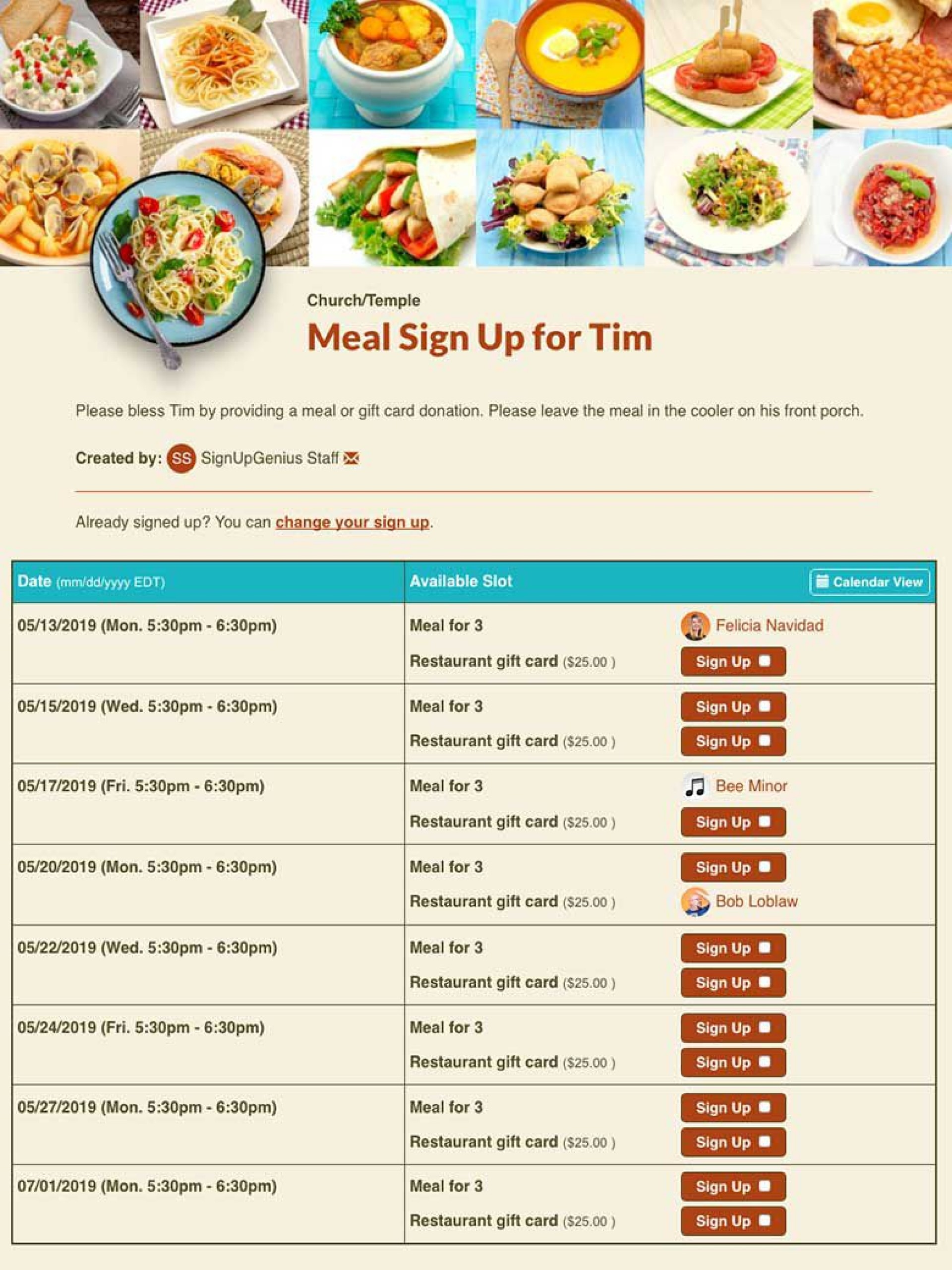 000 Top Meal Sign Up Sheet Template Example  Christma Potluck Free Printable Blank1920