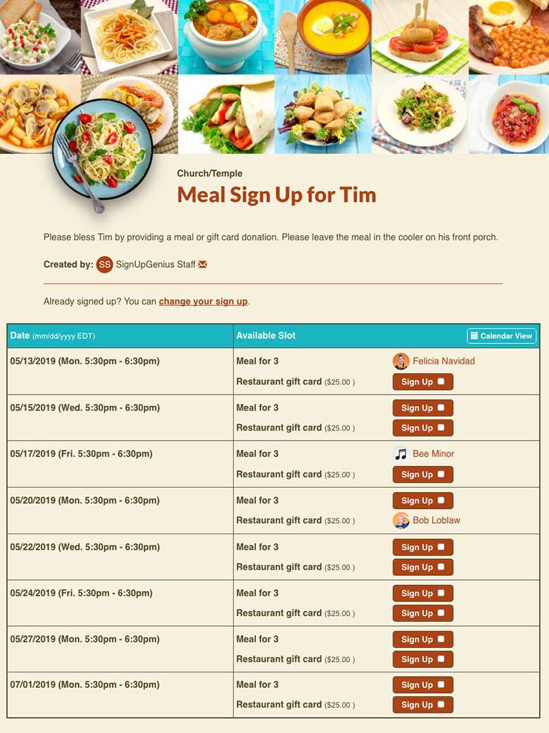 000 Top Meal Sign Up Sheet Template Example  Christma Potluck Free Printable BlankFull