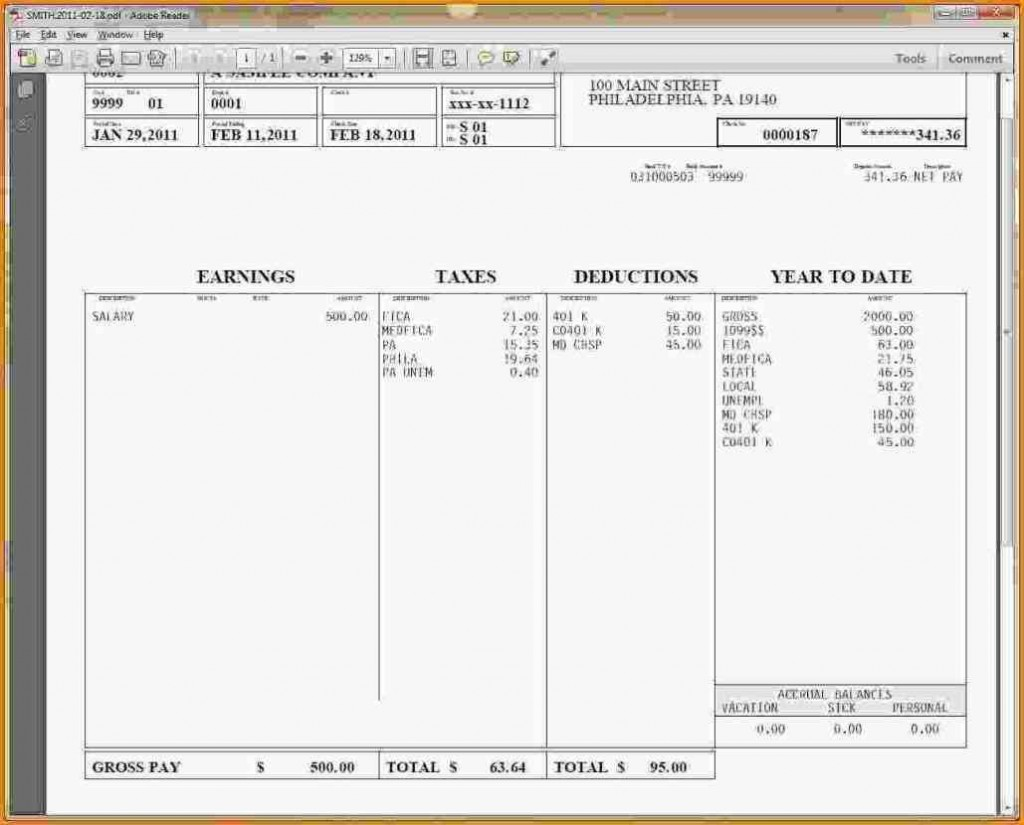 000 Top Pay Stub Excel Template Design  Quickbook Paycheck Microsoft CheckLarge