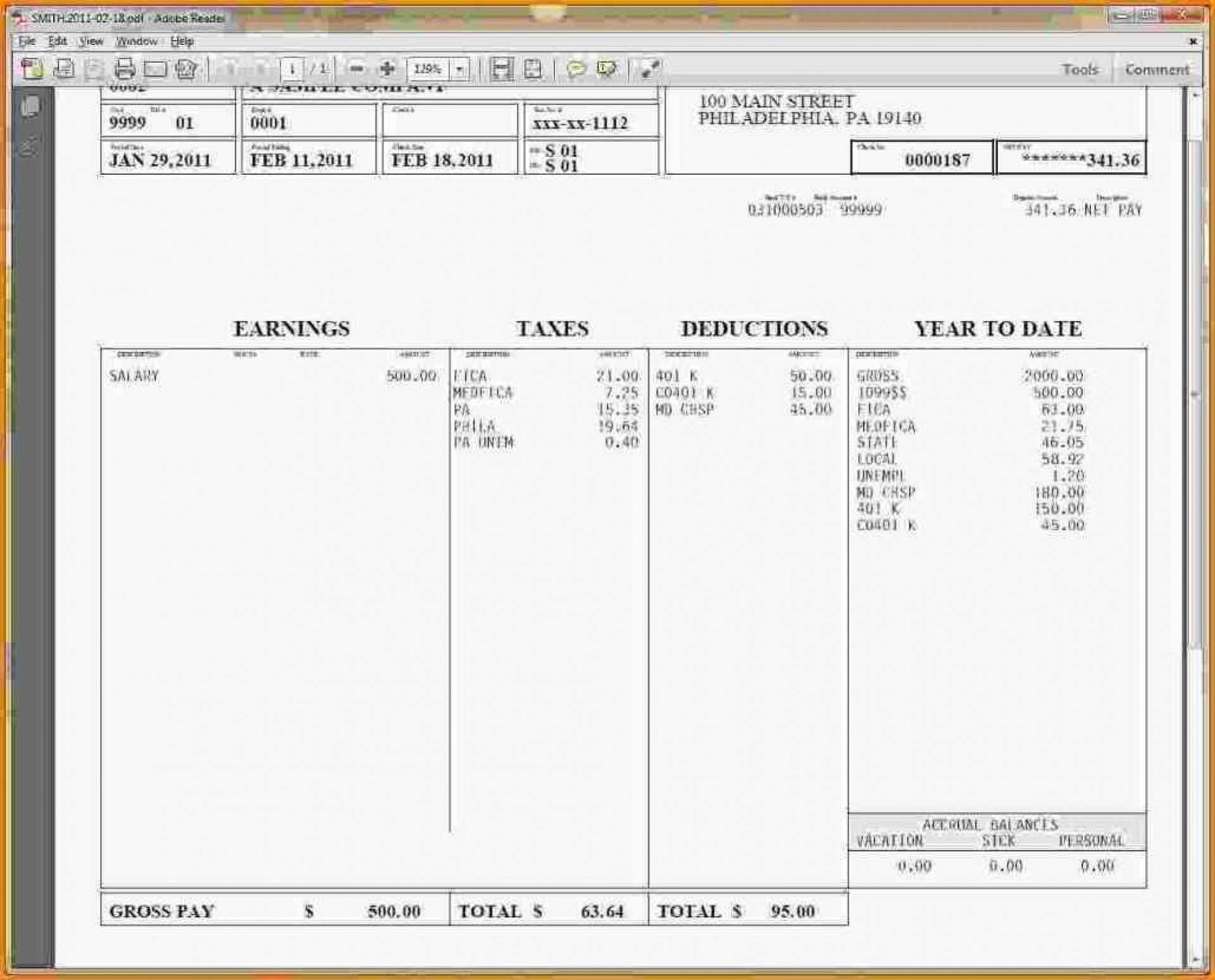 000 Top Pay Stub Excel Template Design  Quickbook Paycheck Microsoft Check1920