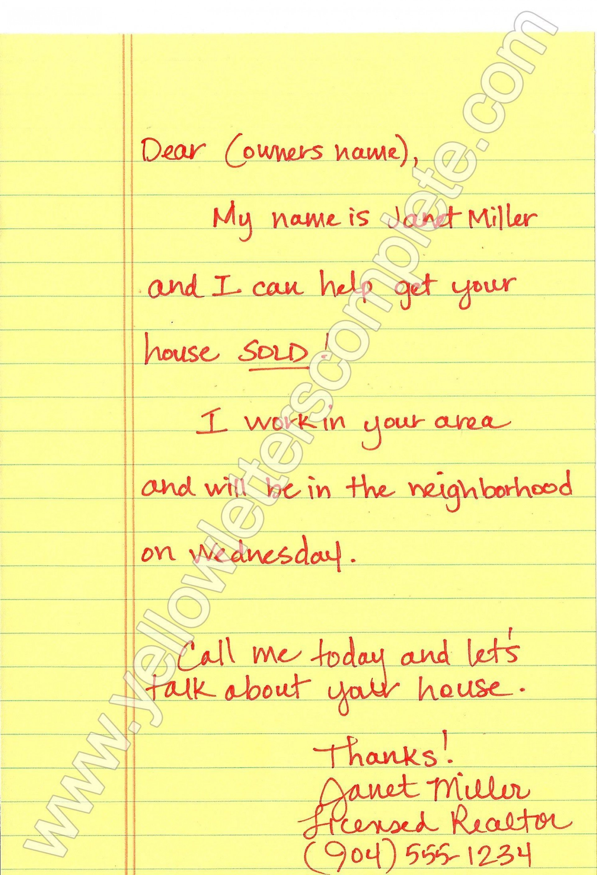 000 Top Real Estate Marketing Letter Template Image  Templates1920