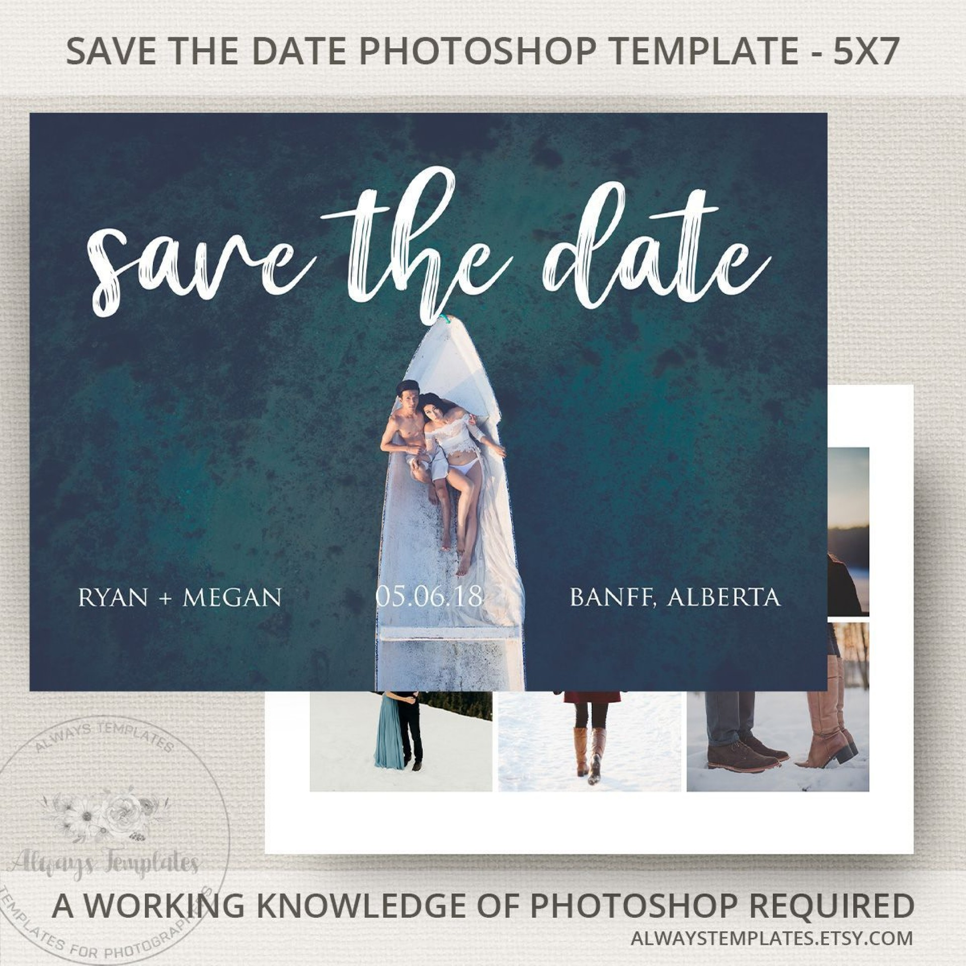 000 Top Save The Date Template Photoshop Photo  Adobe Card1920
