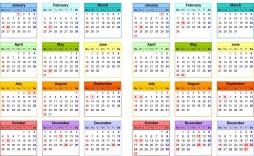 000 Top School Year Calendar Template High Resolution  Excel 2019-20 Word