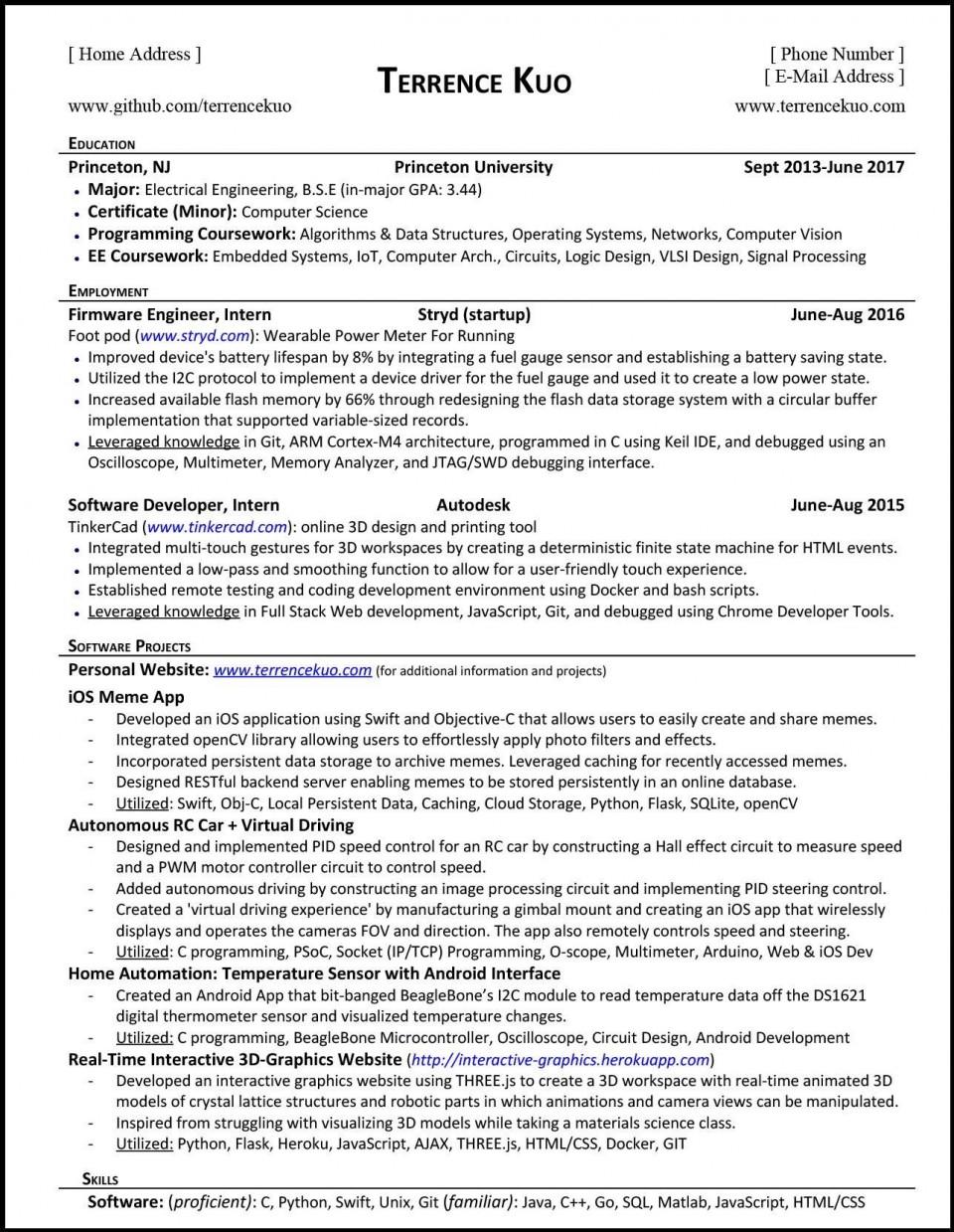 000 Top Software Engineering Resume Template High Resolution  Engineer Microsoft Word Cv Free Developer Download960
