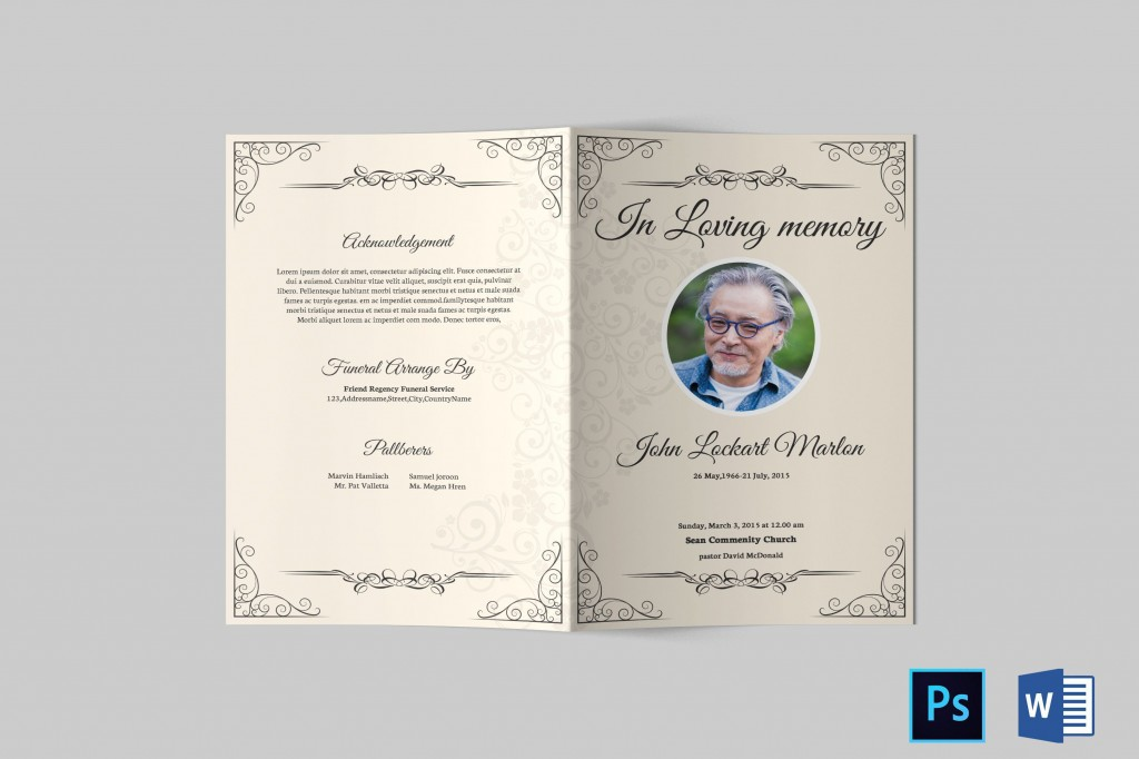 000 Top Template For Funeral Program On Word Photo  2010 Free Sample WordingLarge