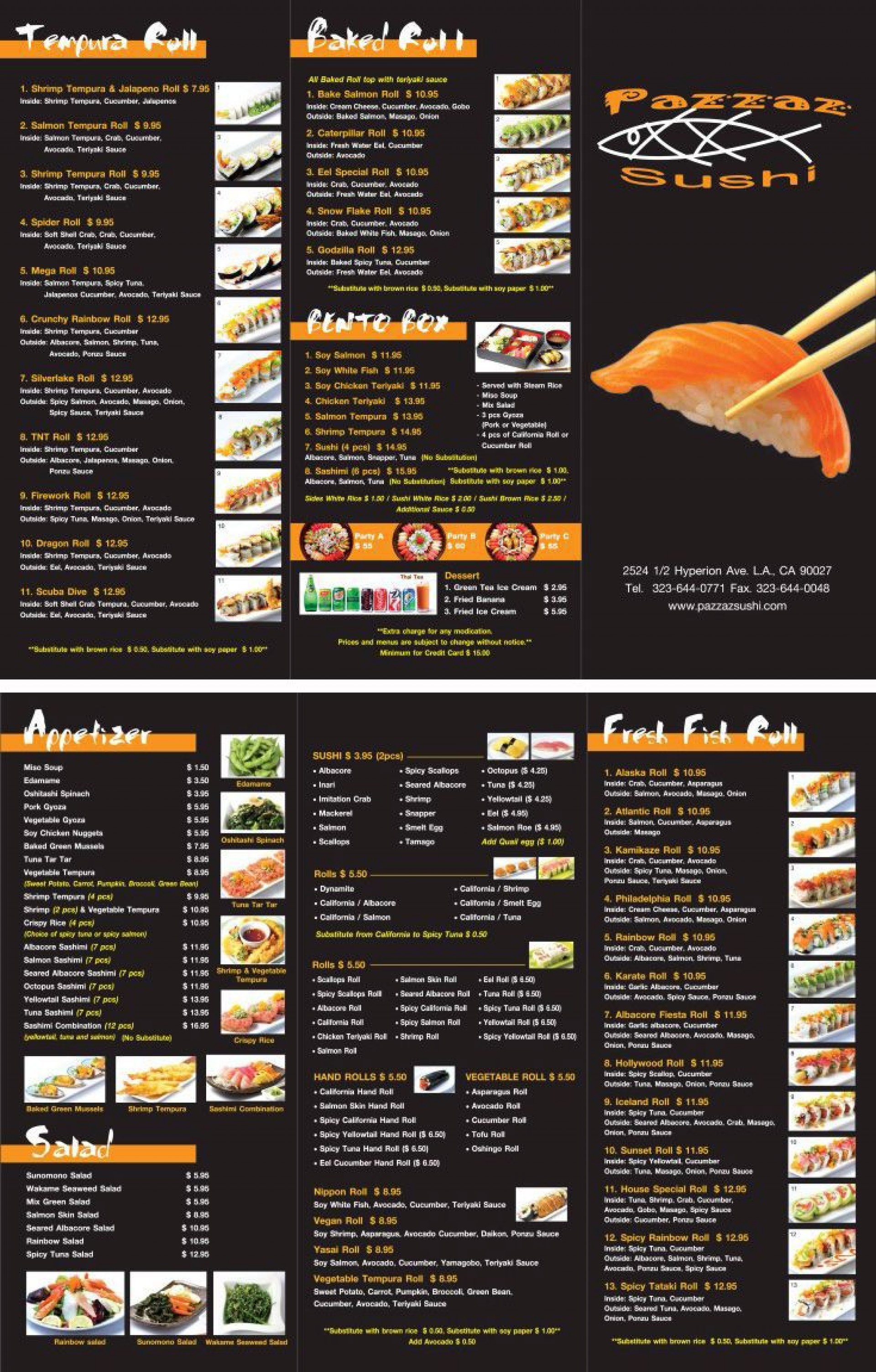 000 Top To Go Menu Template Example  Tri Fold Word Restaurant Free1920