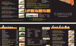 000 Top To Go Menu Template Example  Tri Fold Word Indesign Restaurant