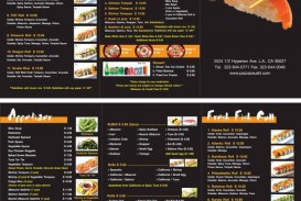 000 Top To Go Menu Template Example  Tri Fold Psd Free