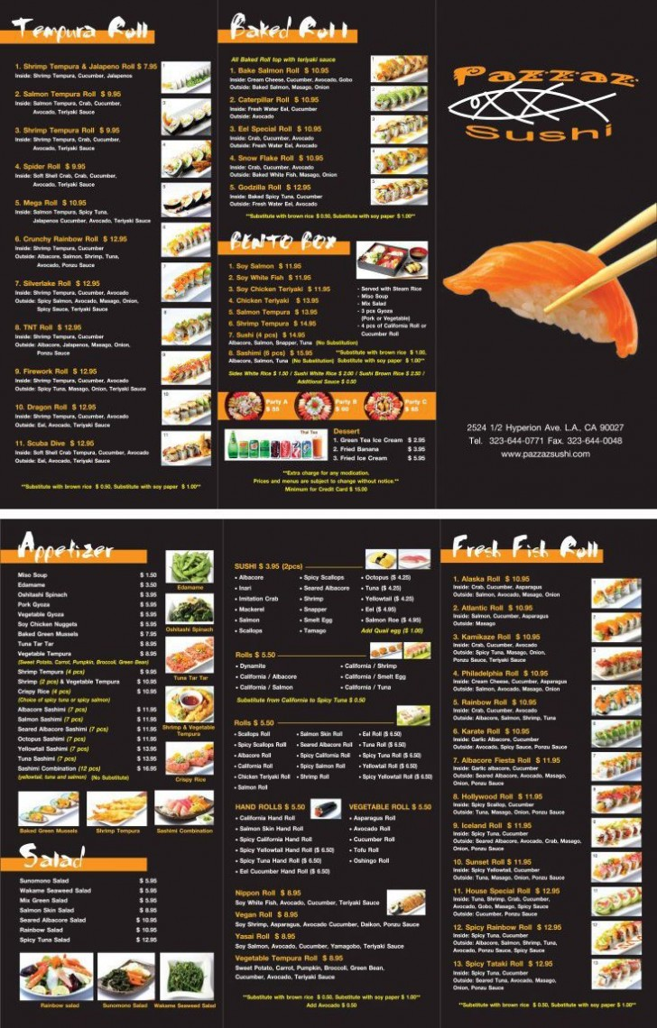 000 Top To Go Menu Template Example  Tri Fold Psd Free728