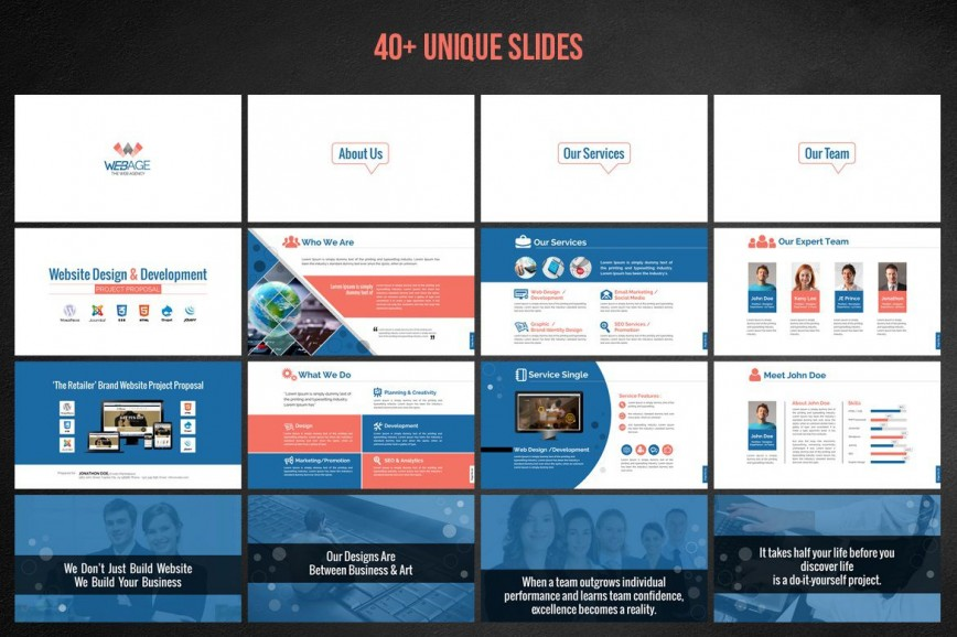 000 Top Website Design Proposal Template Ppt Example