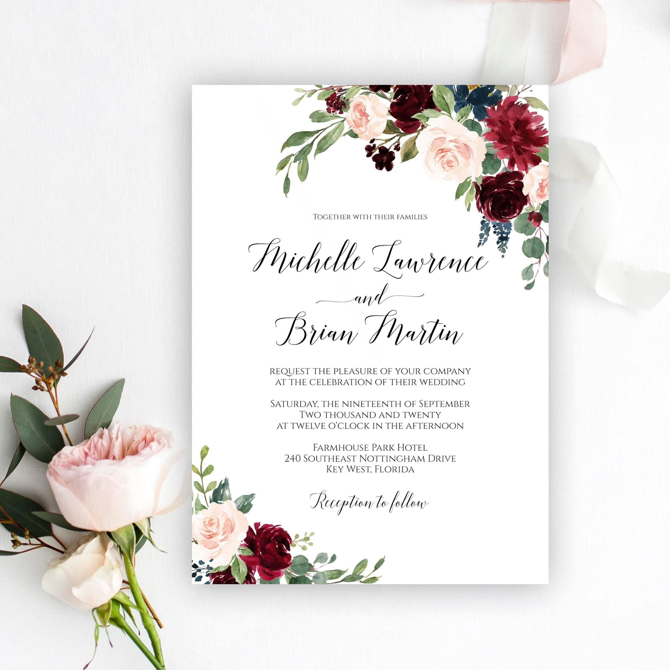 Wedding Invitation Card Psd Templates Free Download - Many Template