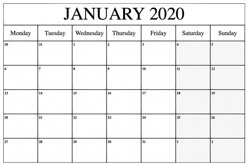 000 Top Word 2020 Monthly Calendar Template Sample  Uk FreeLarge