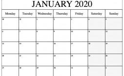 000 Top Word 2020 Monthly Calendar Template Sample  Uk Free