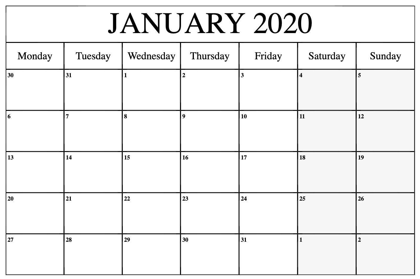 000 Top Word 2020 Monthly Calendar Template Sample  Uk FreeFull