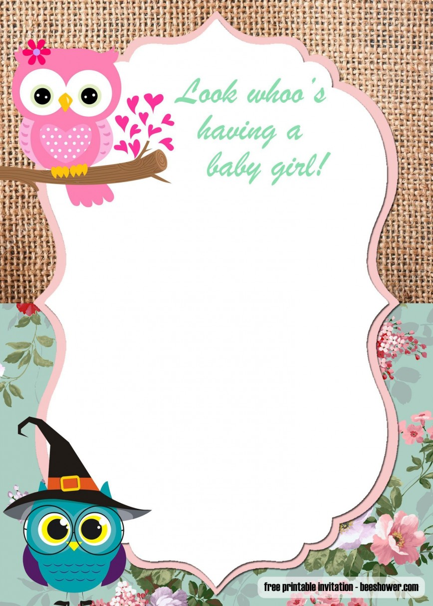 000 Unbelievable Baby Shower Template Free Printable Photo  Invitation For A Girl Online Banner