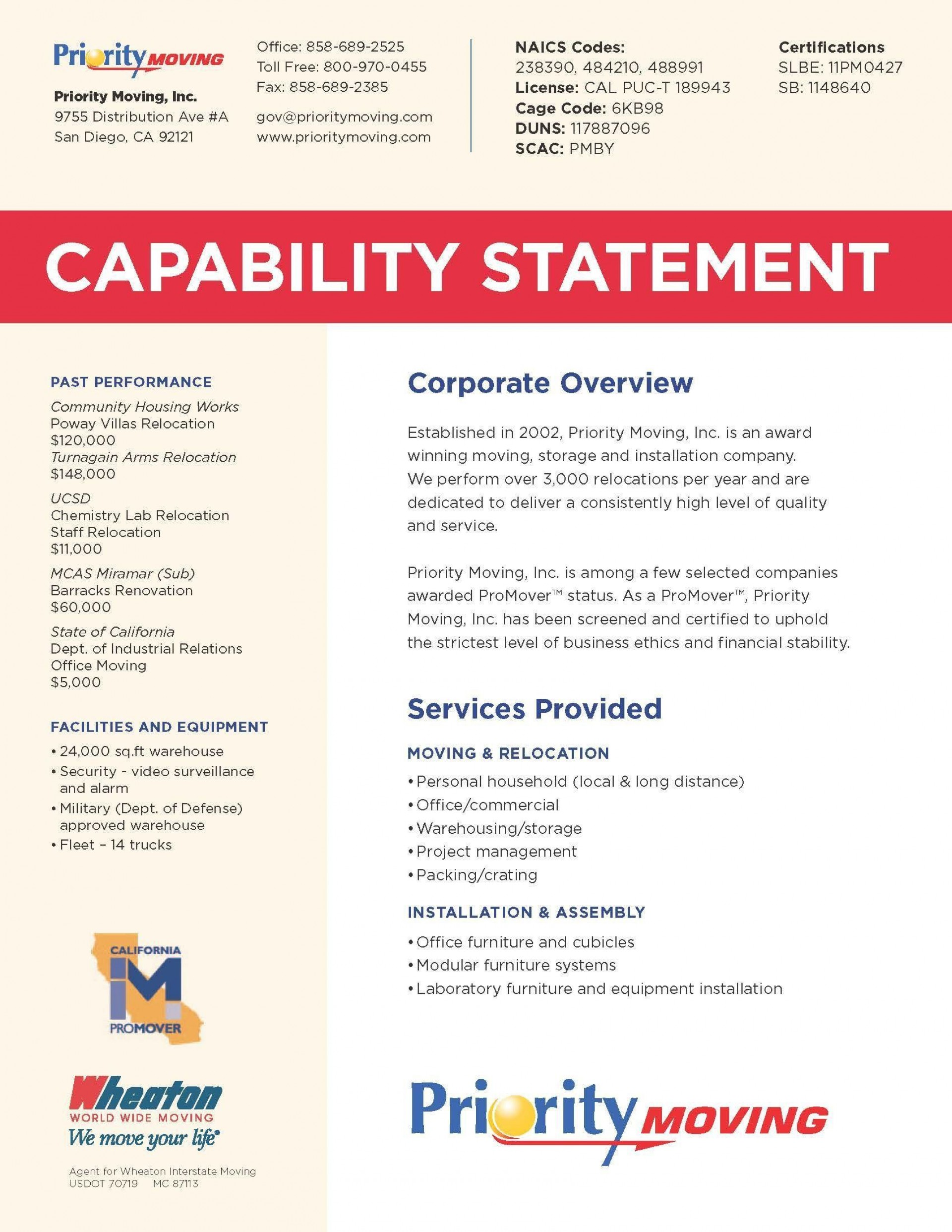 000 Unbelievable Capability Statement Template Free Example  Word Editable Design1920