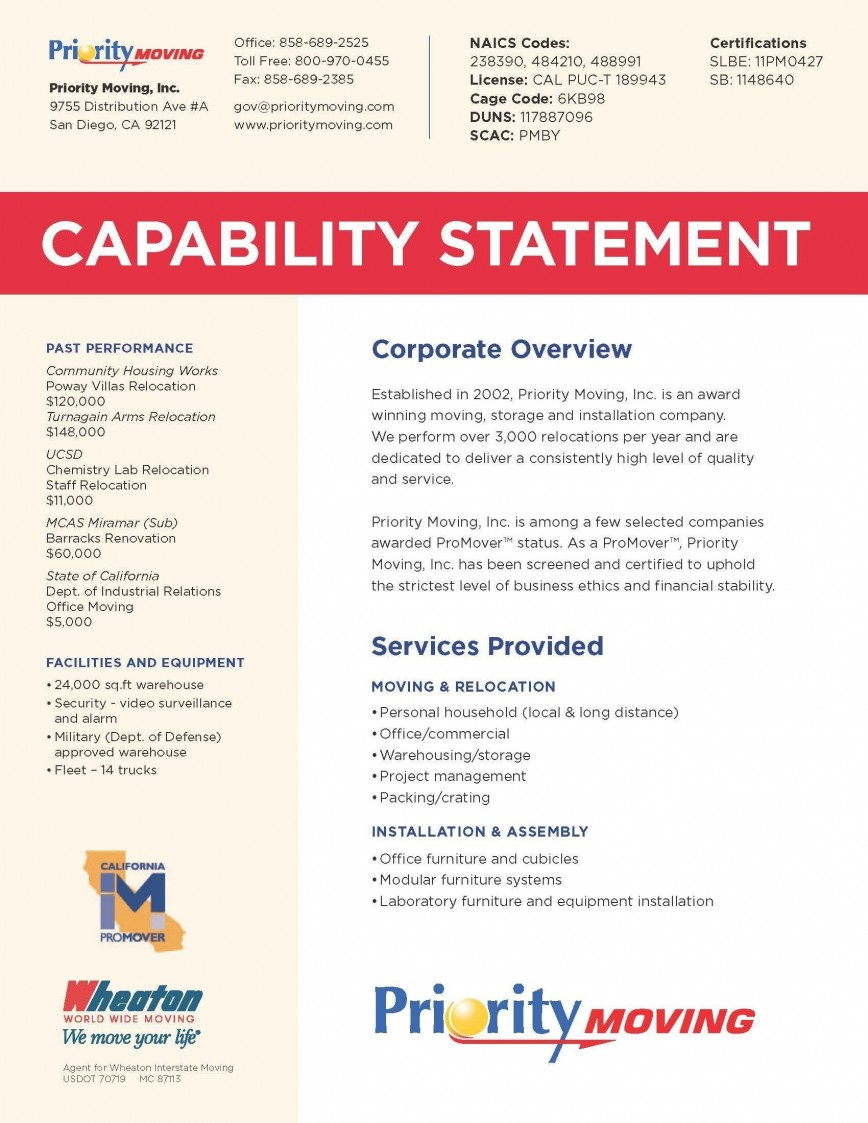 000 Unbelievable Capability Statement Template Free Example  Format Word Editable