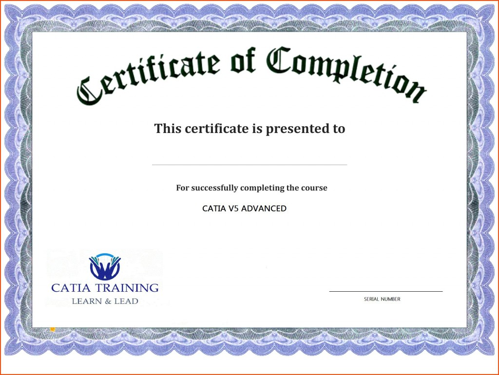 000 Unbelievable Certificate Of Completion Template Free Highest Clarity  Training Download WordLarge