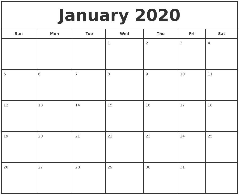 000 Unbelievable Free 2020 Calendar Template Idea  Templates Monthly Excel Download Printable MayFull