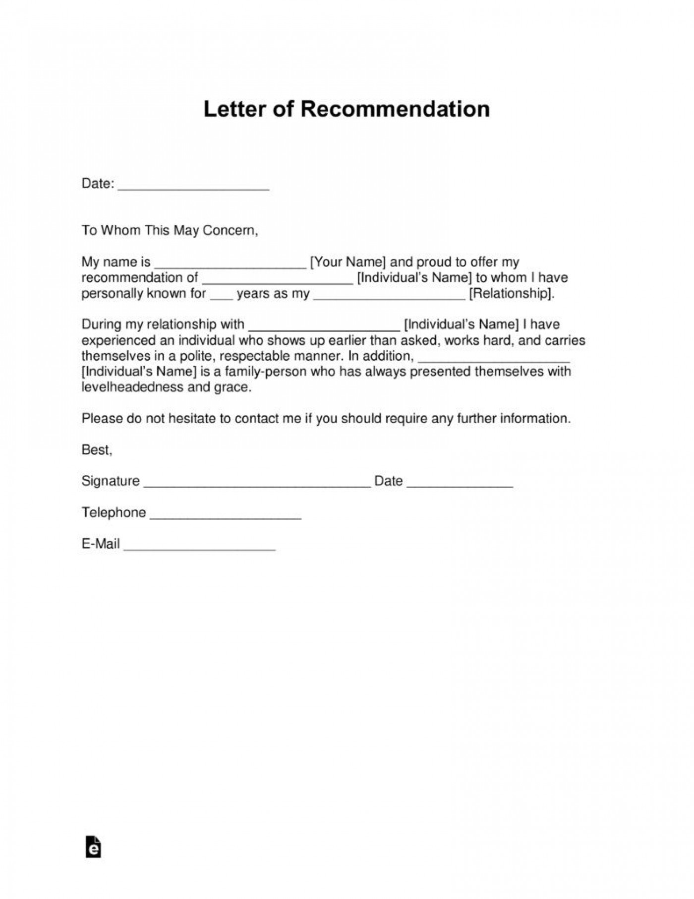 000 Unbelievable Letter Of Reference Template Inspiration  Pdf For Student Volunteer Teacher1400