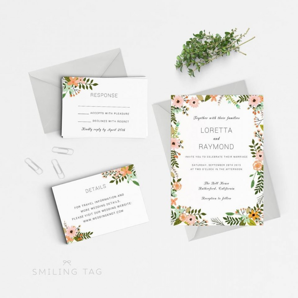 000 Unbelievable Microsoft Word Invitation Template 4 Per Page Concept 960