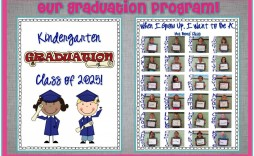 000 Unbelievable Preschool Graduation Program Template Concept  Templates Free Printable Pdf