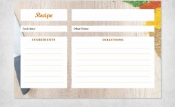 000 Unbelievable Recipe Card Template For Word Sample  Printable Blank Fillable