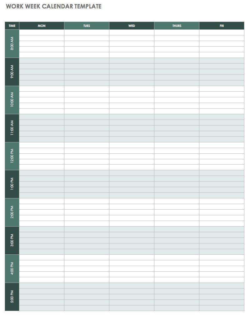 000 Unforgettable 52 Week Calendar Template Excel Design  2020 2019 2021Full
